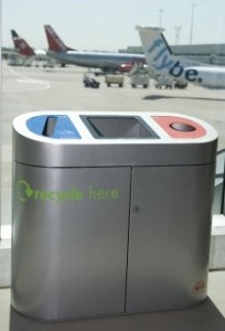 recycling at airport