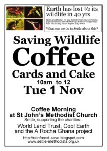 Saving Wildlife Coffee Morning